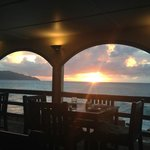 restaurant view at sunset
