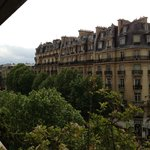 A very Parisian view from the balcony.