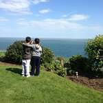 Fabulous views of shanklin coastline from the Carlton Hotels award winning cliff top gardens!