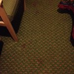 blood stains on floor/ Room 109