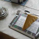 Charming placemat with auld lang syne