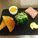 Ham Hock Terrine with Toasted Guinness Bread