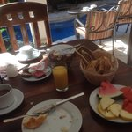 Continental breakfast is very good.  Coffee was very watery but the bread and fruit selection ma