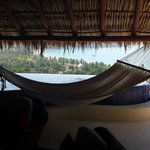 hammock and dipping pool with unbelievable view