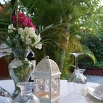 We can serve you typical & romantic dinner in the wonderful garden