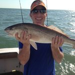 Redfish caught at the wreck