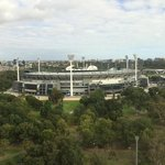 The view of the MCG from our room