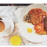 """Our """"paid for"""" traditional English breakfast."""