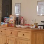 Choice of cereal and other breakfast items