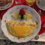 Close up of  the breakfast! Great presentation of the food!