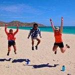 Jumping for joy for La Paz