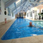 Indoor swim spa at Anchorage House