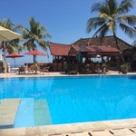 pool and bar in bali palms candi dasa