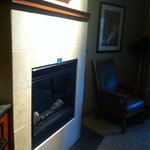 Room 210 I loved having a gas fireplace in the room!
