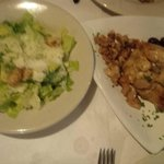 Caesar Salad and Baked Brie