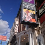 The front of the Huntington Theatre