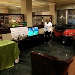 The Lobby Decked out in Masters Theme