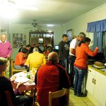 Another Braai night for 1 of Dolphin Inn's groups visiting Cape Town.