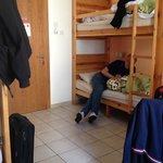 A 4bed- room at the hostel