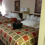 I sat my purse on the bed, so disregard, but this is the room!