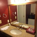nicely remodeled bathroom in room 226
