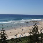 Snapper Rocks on a good day from the room
