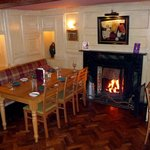 Dining room with the log fire