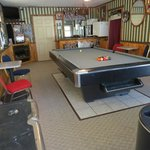 The guest game room is very popular at the Berry Patch! Guests can play pool, air hockey, darts