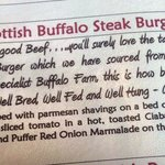 Buffalow Steak Burger