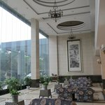 Part of the huge lobby