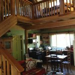 Main living area at Maybelle's Cabin