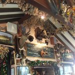 the restaurant wall - very homely, traditional, comfortable and with a lot of character!