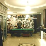Pooltable in the reception area