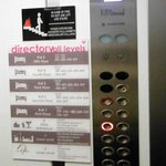 Elevator panel operated with roomkey card