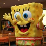 Sponge Bob in the Dining room room for the breakfast buffet