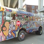 Gotta be the Magical Mystery Tour bus....
