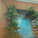 looking from my room down to the swimming pool
