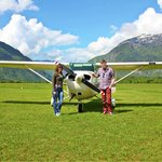 The little plane we flew in :)