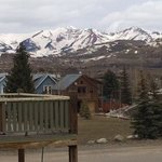The view of Mt. Crested Butte from the second floor balcony, 4/26/14.