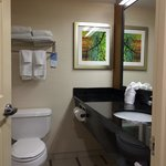 Clean, refurbished restrooms