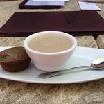 Casa Sena Restaurant - Cream of Mushroom Soup with a Blue Corn Muffin