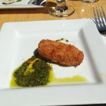 Taberna - Salted Cod Croquette with Manchego Cheese and Pesto