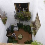 The internal courtyard of the Torrox Townhouse