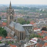 View of Delft and the Old Church from the tower of the New Church