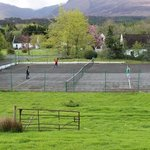 Tennis court at Lakeland cottages
