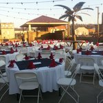 Rooftop area is perfect for a beautiful afternoon event!