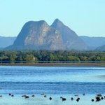 Views of the Glass House Mountains from the Pumicestone Passage