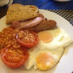 Full english breakfast at Cornerways
