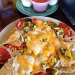 Nachos look good, but the cheese is only on the top. I'd pick something else.