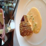 Macnut-crusted tuna is an old standby